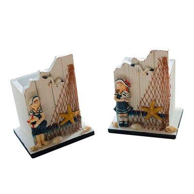 地中海風格家居飾品 實木筆筒 男孩女孩款 創意禮品INS風房間裝飾