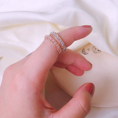 手工定製  14k包金草莓晶/灰月光拉長石繞線 招桃花 可調節戒指(依照手指圍訂製)