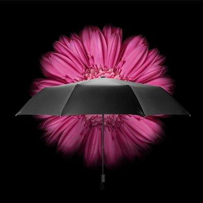 5Cgo【鴿樓】會員有優惠 548130446815 BANANA UNDER蕉下小黑傘蘇桃雙層女防曬傘防紫外線晴雨傘