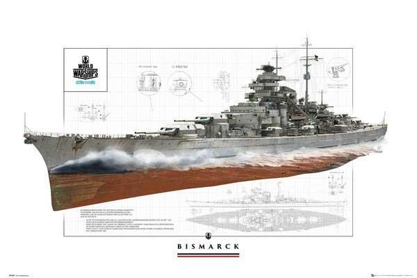 海報專賣店-進口海報 FP4397(海報 戰艦世界)+漸層咖啡(含表面防水式處理)