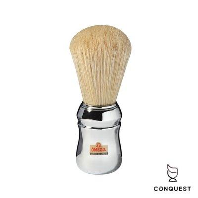 【 CONQUEST 】OMEGA 義大利 專業鬍刷品牌 Shaving Brush 100%純豬鬃毛 刮鬍刷10048