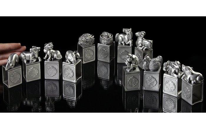 [天地居] 台灣當代雕塑 錫 十二生肖