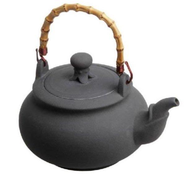5Cgo【茗道】含稅會員有優惠 44832550002 建窯火山石壺竹提梁養生陶壺燒水煮茶壺精品功夫茶具大容量耐熱電陶壺