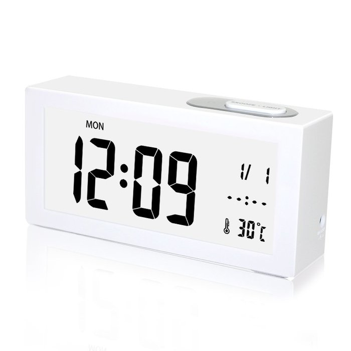 夜光靜音鬧鐘簡約日式風創意兒童床頭鐘時尚北歐學生電子鐘時鐘表個性創意鬧鐘