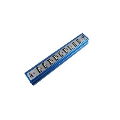 [DJS COMMERCE] USB 2.0 Hub 10 Ports USB Splitter 拖板 一拖十 排插 分線器 高速2.0 電腦手機智能電話充電