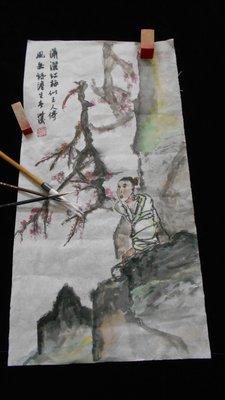 瀟瀟紅梅-水墨畫
