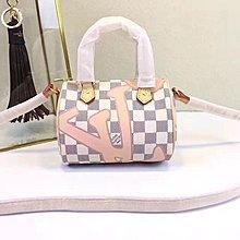 专柜新款 Louis Vuitton  M61252 手提包 粉色 LV 单肩包