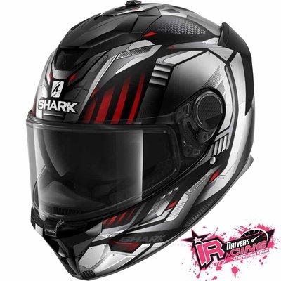 ♚賽車手的試衣間♚ Shark® Spartan GT Replikan Silver 安全帽