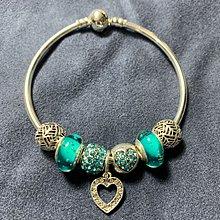 Pandora 湖水綠色串珠手鈪