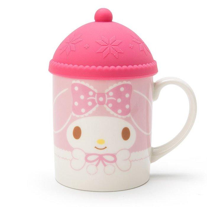 41+現貨不必等  Y拍最低價 日本限定  正版 美樂蒂 MY MELODY 帽型杯蓋 馬克杯 聖誕造型 小日尼三