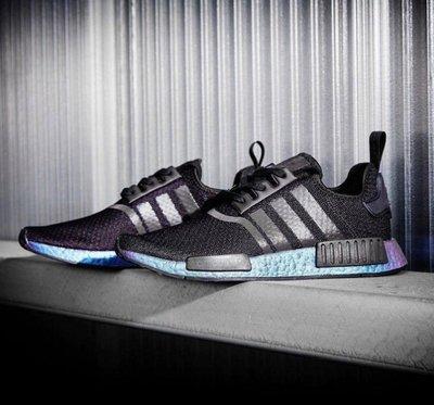 【現貨】Adidas NMD R1 黑紫 變色龍 FV3645