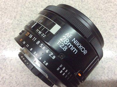 [保固一年] [ 高雄明豐] 尼康 NIKON AF NIKKOR 28mm F2.8 定焦廣角鏡頭  日本製 實用品