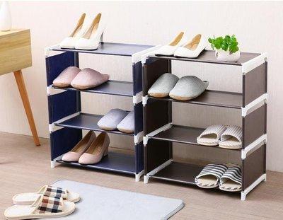日式簡約無紡布三層鞋架