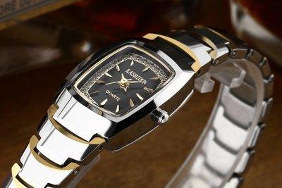 yes99buy加盟-卡詩頓防水鎢鋼女錶 玫瑰金女鑽表 復古表手錶女