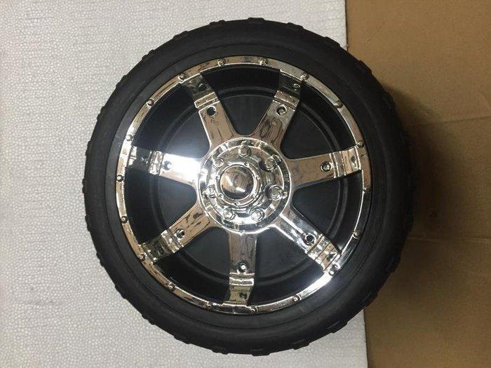 ~鉅珀~大可福特越野SUV兒童遙控電動車各種大型PU發泡軟輪胎 要告知輪軸心是10mm或是