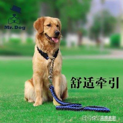 中型犬大型犬 金毛阿拉斯加牽引帶遛狗繩項圈狗鍊子P鍊牽引繩套裝 尚美優品