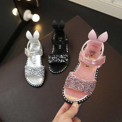 女童涼鞋新款公主夏季防滑軟底童鞋時尚韓版學生兒童涼鞋百搭