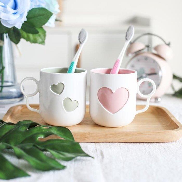 刷芽杯子情侶芽缸杯塑料芽刷杯一對家用洗漱杯Y-優思思