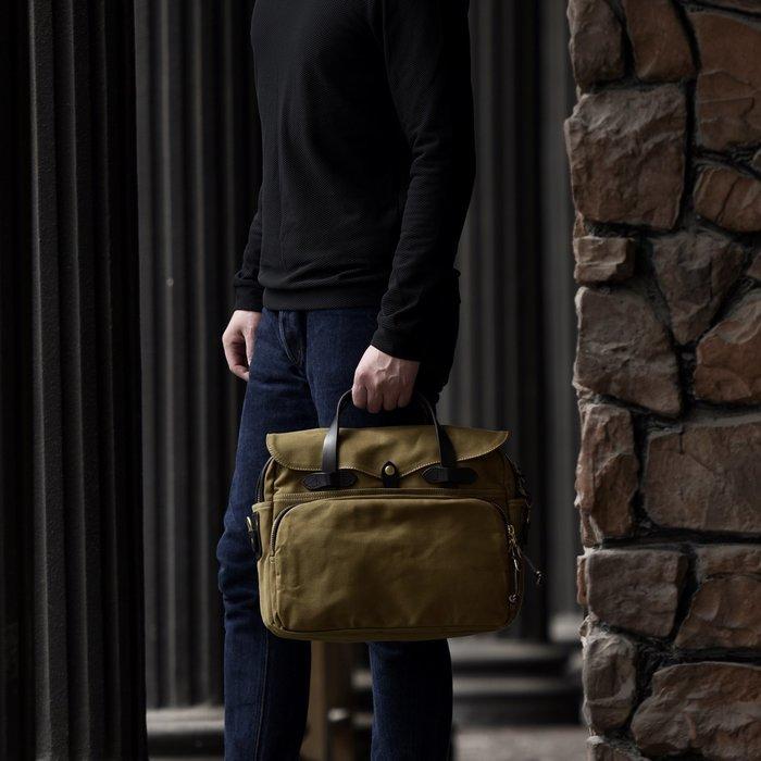 ~皮皮創~原創設計手作包。英倫風復古真皮配帆布郵差包大容量多隔層多口袋帆布斜背包公事包