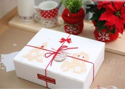 聖誕節必備聖誕樹薑餅人款包裝盒26.5*21*8.6cm 薑餅盒 餅乾盒 西點盒蛋糕盒1個30元.禮品盒~幸福生活館 新北市