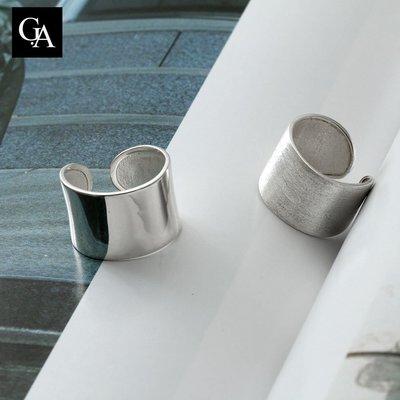 《GA S925設計純銀飾》設計款 純銀Vogue風時尚開口戒,網美爆棚款,純銀戒指 2件9折