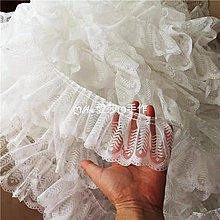 『ღIAsa 愛莎ღ手作雜貨』簡約蕾絲百褶子娃娃禮服婚紗蛋糕裙子花邊輔料寬9cm