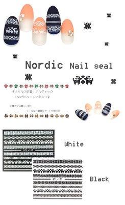 【指甲樂園nails】美甲光療材料 美甲貼紙 聖誕節 黑白背膠貼紙 麋鹿 兩張合售