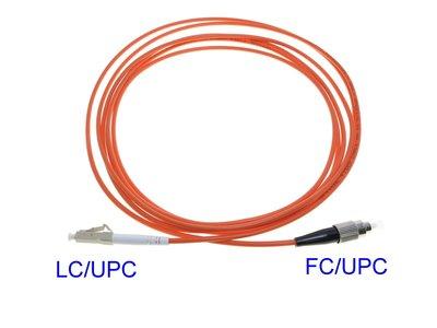 LC FC多模單芯 光纖跳線 3米FC LC 光纖跳線62.5/125 另有50/125頭端 光端資訊 電腦