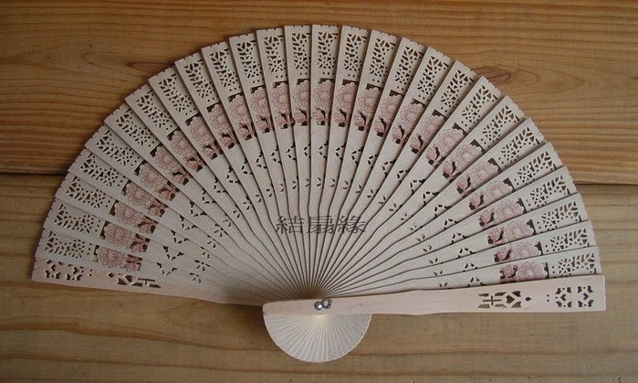 【結扇緣】復古香木扇中國風純木製片扇(8吋)