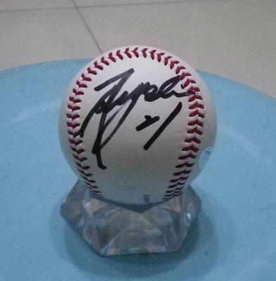 棒球天地--5折賠錢出--日本職棒 福岡軟體銀行 和田毅 簽名全新比賽用球.字跡漂亮
