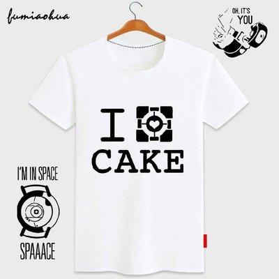 Portal傳送門2純棉短袖T恤游戲男周邊半袖學生情侶裝夏季