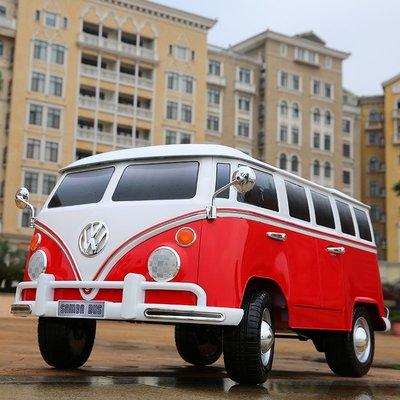 原廠授權 VW 福斯 Volkswagen Transporter (雙人座) T1 麵包車 胖卡 遙控車 電動車