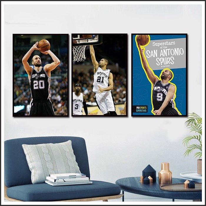 日本製畫布海報 NBA DUNCAN 馬刺 帕克 鄧肯 吉諾比利 雷納德 無框畫 掛畫 裝飾畫 @Movie PoP #