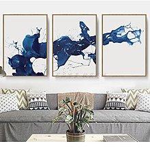 現代新中式潑墨抽象藝術裝飾畫畫芯客廳餐廳掛畫無框畫微噴畫心布(不含框)
