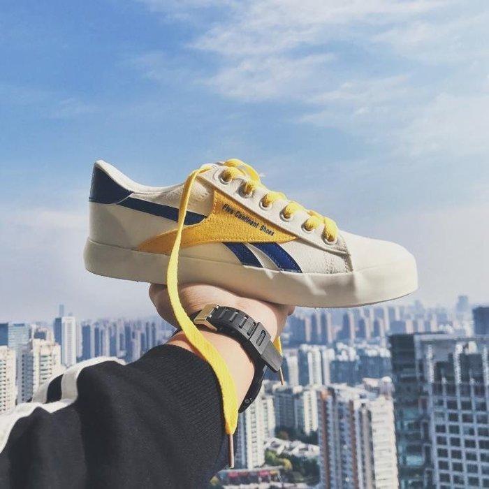 港風男士正韓潮流低筒帆布鞋潮鞋學生運動休閒鞋百搭板鞋原宿鞋子