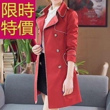 風衣外套(零碼賠售出清、恕不退換)-俐落率性保暖長版女大衣4色59o12[韓國進口][米蘭精品]