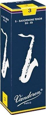 【非比藝術】【Vandoren Traditional Tenor Reeds 薩克斯風次中音 傳統藍盒 竹片 5片裝】