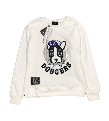 [現貨]洛杉磯道奇大學Tee 波士頓㹴犬Dodger白 韓國潮牌MLB棒球KOREA套頭圓領長袖 法國鬥牛生日交換禮物