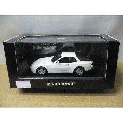 MINICHAMPS 1/43 PORSCHE 944 S2 1989 WHITE (400 062222) (07626) (PIU110)