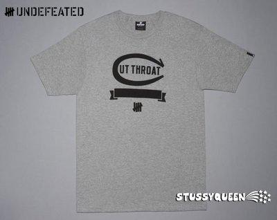 【 超搶手 】全新正品 2012 S/S 春季最新 Undefeated Cut Throat Tee 灰色 L