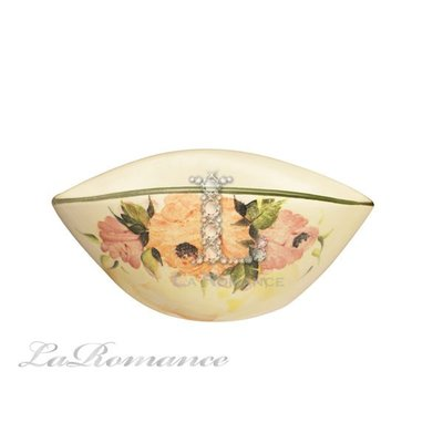 【芮洛蔓 La Romance】義大利 Ceramiche Fabbro 手繪粉玫瑰小點心盤 / 手繪點心盤 / 手繪零錢盤
