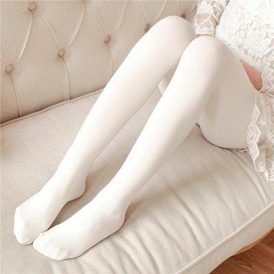 春秋季白色連褲襪顯瘦打底襪長襪子豎條紋女日系中厚黑絲襪防勾絲