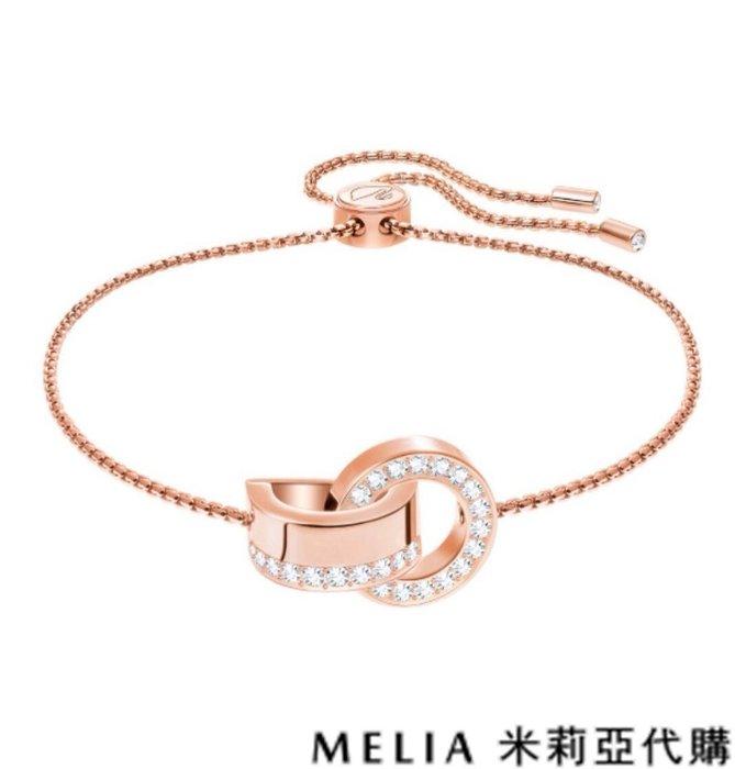 Melia 米莉亞代購 0305 19ss Swarovski 施華洛世奇 HOLLOW 手鍊 親新浪漫氣息 玫瑰金