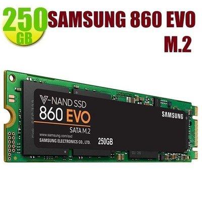 SAMSUNG【860 EVO】M.2 250GB MZ-N6E250BW SSD SATA 6Gb/s 固態硬碟