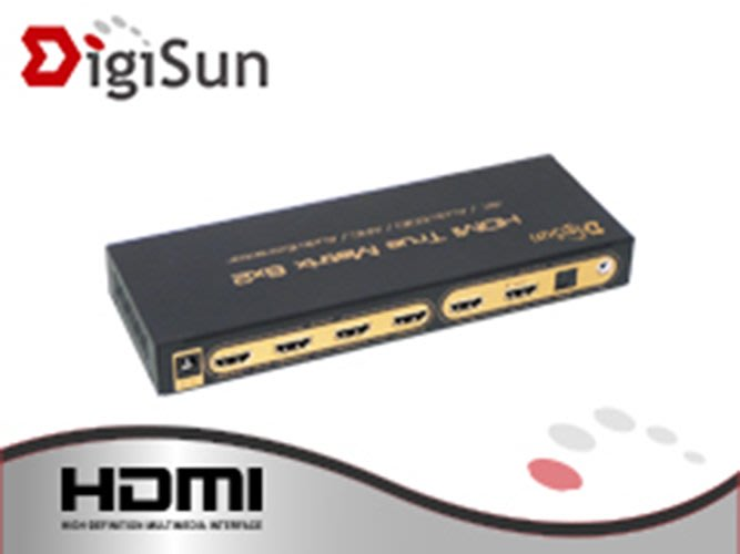 【開心驛站】含稅含運~DigiSun AH262P 4K HDMI 六進二出矩陣切換器+音訊擷取器 (子母畫面)