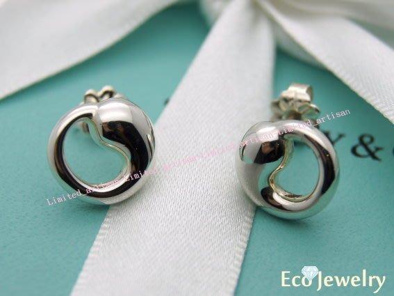 《Eco-jewelry》【Tiffany&Co】經典款 小太極系列 純銀925耳環~專櫃真品 已送洗