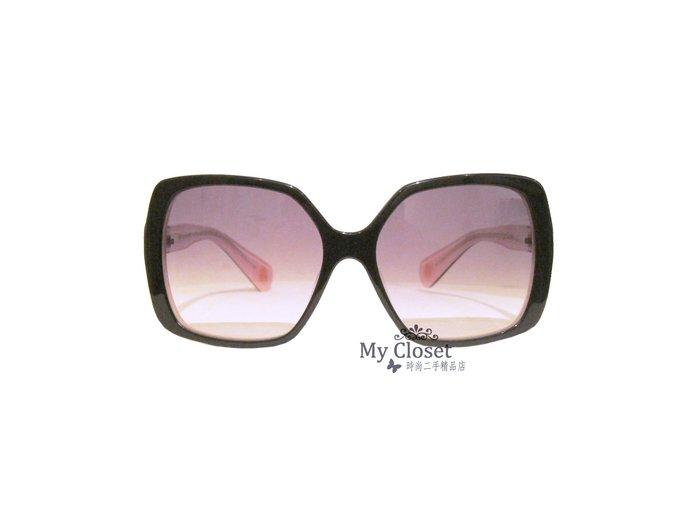 My Closet 二手名牌 CHROME HEARTS 黑x粉色双色方框太陽眼鏡