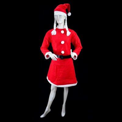 女生聖誕帽聖誕老人聖誕老婆婆裝 不織布大女A聖誕衣