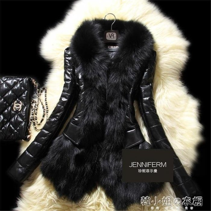 秋冬新款仿狐貍毛皮草外套顯瘦皮衣保暖棉衣皮毛一體女長袖