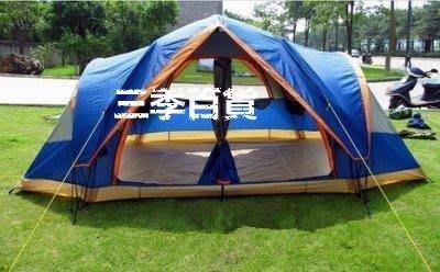 三季德國5-8人雙層戶外露營大空間速開自動帳篷戶外帳篷多人帳篷❖602